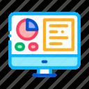 analytics, computer, display, info, report, screen, statistician