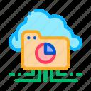 cloud, cloudy, diagram, folder, internet, statistician, storage