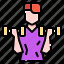 avatar, dumbbell, exercise, man, wellness, workout