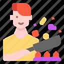 avatar, chef, cooking, kitchen, male, man, user