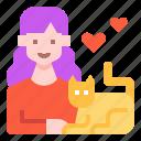 avatar, cat, love, pet, woman