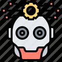 artificial, futuristic, intelligence, robotic, technology icon