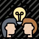 brainstorming, consult, creativity, discussion, ideas icon