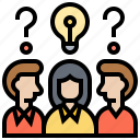 brainstorming, communication, consult, discussion, solution icon