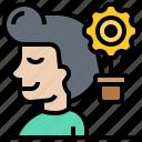 creativity, idea, imagination, smart, thinking icon