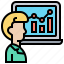 analysis, data, estimation, inference, statistic icon