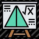 calculation, formula, geometry, math, physics icon