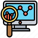 analysis, report, research, statistic, strategy icon