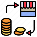 buying, coin, market, purchase, shop icon