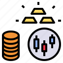 coin, commodity, gold, goods, stock icon