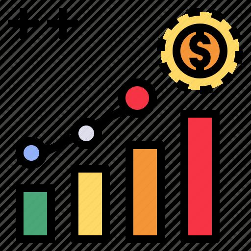advantage, benefit, gain, goal, profit, return icon