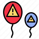 balloon, caution, danger, hazard, insecurity, risk icon
