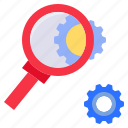 analyse, analyze, examine, investigate, research, zoom icon
