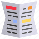 document, gazetted, journal, news, newspaper icon