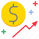 award, coin, income, increase, profit, yield icon