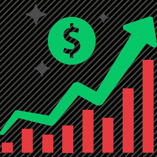 bull market, bullish, earning, growth, investment, profit, stock icon