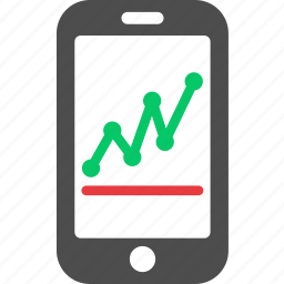 apllication, business, finance, graph, mobile, online, stock icon
