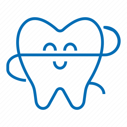 caretooth, dentist, floss, molar, mouth hygiene, smile, white tooth icon