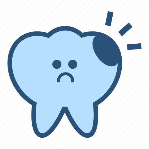 caries, character, decay, dental, dentist, molar, tooth icon