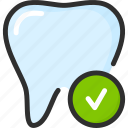 check, dental, dentist, ok, stomatology, tick, tooth icon