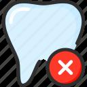 delete, dental, dentist, remove, stomatology, teeth, tooth icon