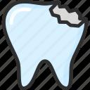 caries, dental, dentist, stomatology, teeth, tooth icon