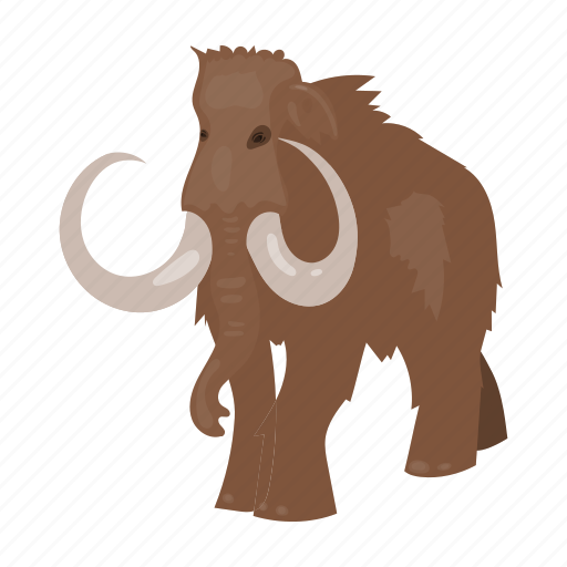 ancient, animal, mammoth, period, prehistoric, stone age icon