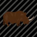 ancient, animal, period, prehistoric, rhino, stone age