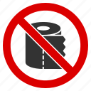 deficit, empty, hygiene, no roll, not available, tissue, toilet paper icon