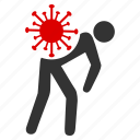 contagious, illness, outbreak, pandemic, sick person, sickness, virus carrier icon