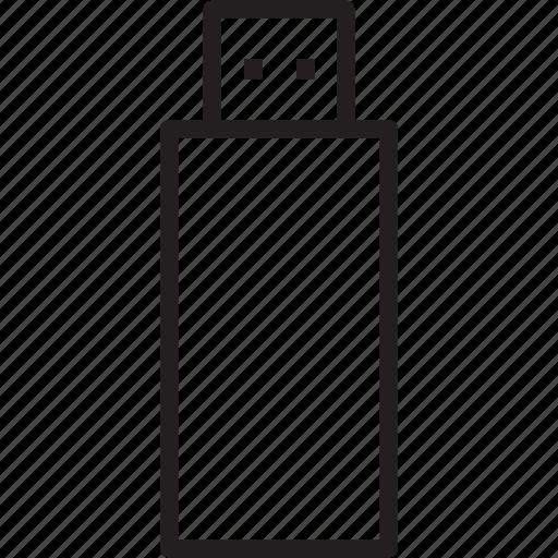 flash, stick, storage, usb icon