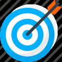 achievement, archery, productivity, skill, success, target icon icon
