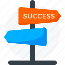 crossroad, direction, direction icon, orientation, sign, signboard, success direction icon