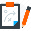 idea, maze, paper, pen, solve, strategy, work icon icon