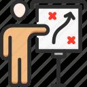 desk, man, marketing, plan, strategy, track, way icon