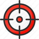 hit, marketing, strategy, target icon