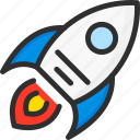 growth, marketing, plan, rise, rocket, strategy icon