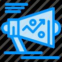 announce, loudspeaker, marketing, megaphone, strategy icon