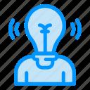 bulb, idea, light, person, user
