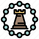 castle, fort, rook, strategy, tower icon