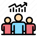 chart, group, success, team, user icon