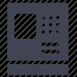 atm, cash, elements, machine, street icon