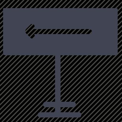 arrow, direction, elements, left, road, street icon