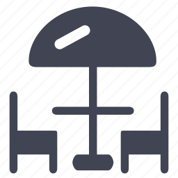 chair, chairs, elements, street, terrace, umbrella icon