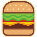 burger, cheeseburger, fast, food, hamburger, street icon