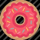 bakery, dessert, donut, doughnut, snack, sweet icon