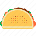 fast, food, mexican, street, taco, tortilla icon