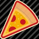 fast, food, pizza, pizza slice, slice, street