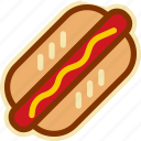 fast, fast food, food, hot dog, hotdog, sausage, street icon
