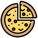 bake, bread, fast, food, pizza icon
